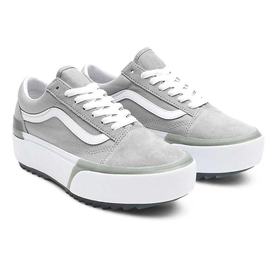 Sneaker Vans VANS Zapatillas Pastel Old Skool Stacked ((pastel) Drizzle/true White) Mujer Gris