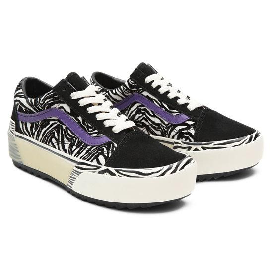 Zapatillas Zebra Old Skool Stacked | Negro | Vans