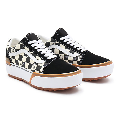 Checkerboard+Old+Skool+Stacked+Shoes