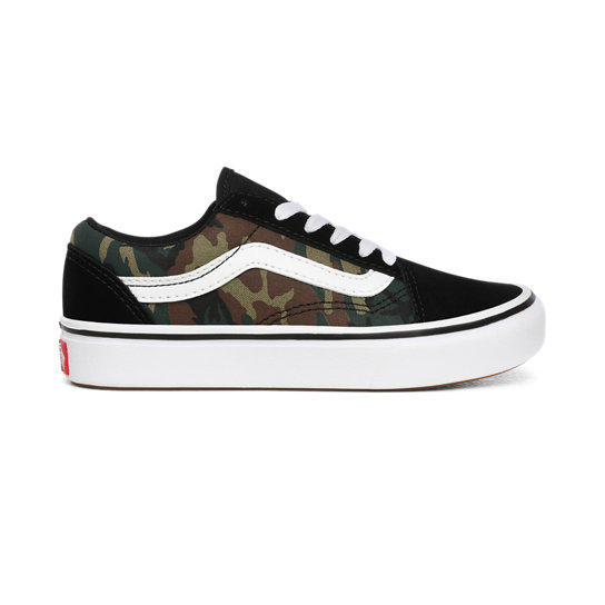 Kids Woodland Camo ComfyCush Old Skool Shoes (4-8 years) | Vans