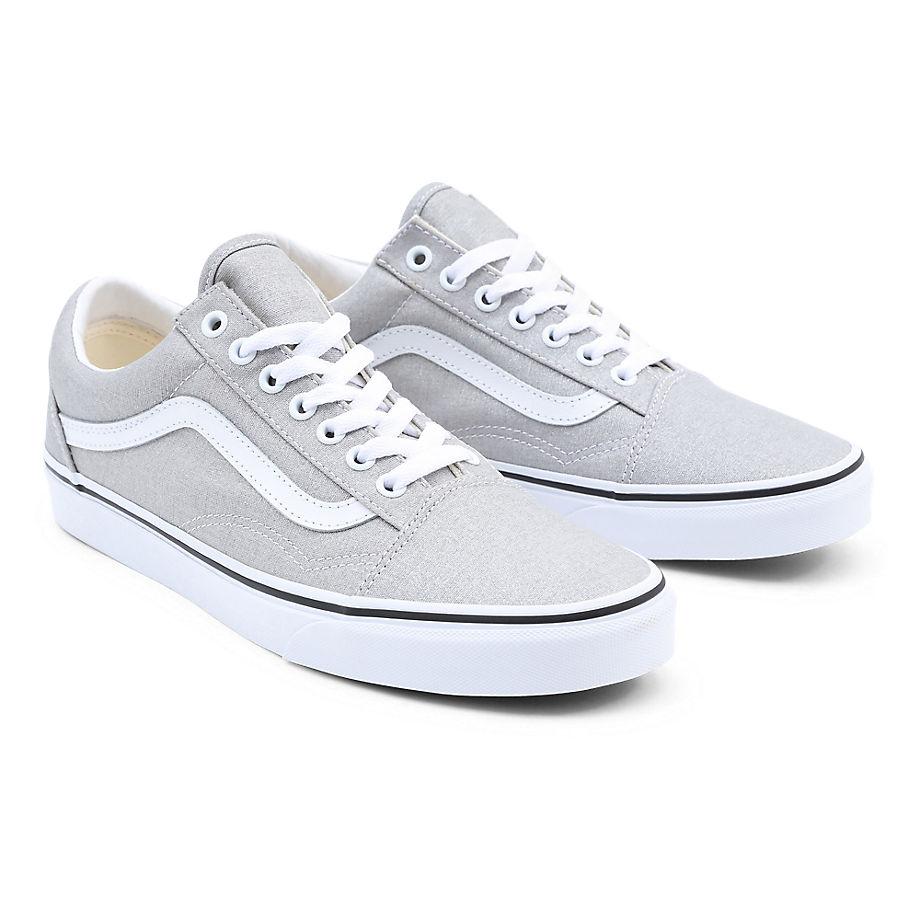 Chaussures Old Skool (silver/true White) , Taille 40.5 - Vans - Modalova