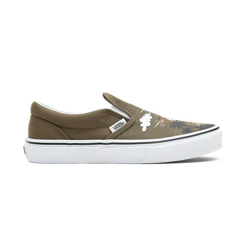 Youth+Dineapple+Floral+Classic+Slip-On+Shoes+%288-14%2B+years%29