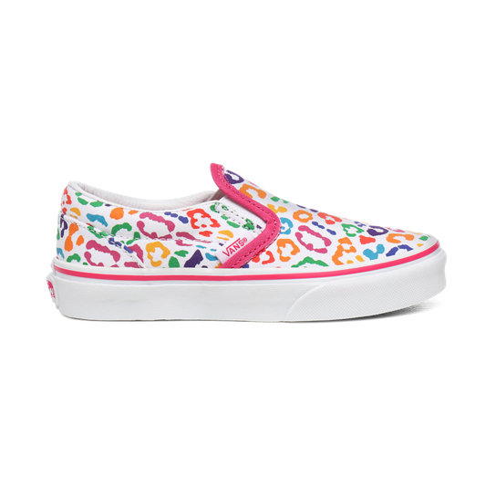 Youth Rainbow Leopard Classic Slip-On Shoes (8-14+ years) | Vans