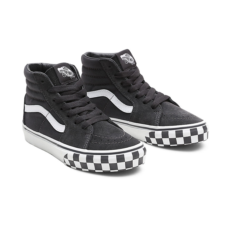 Chaussures Check Bumper Sk8-hi Ado (8-14 Ans) ((check Bumper) Asphalt/true White) Youth , Taille 35 - Vans - Modalova