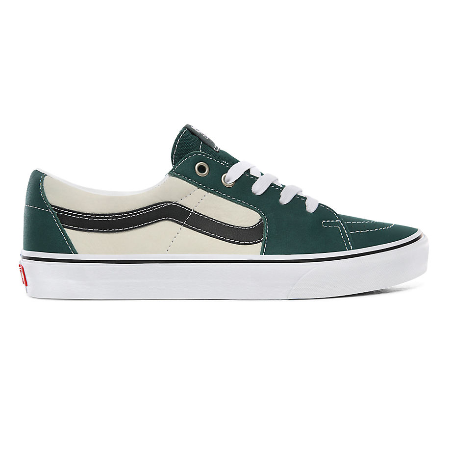 Chaussures En Cuir Sk8-low ((leather) Bistro Green/marshmallow) , Taille 34.5 - Vans - Modalova