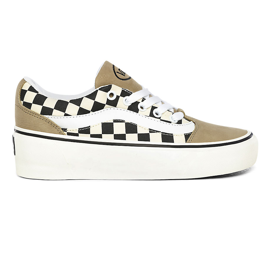 Chaussures Checkerboard Shape Ni ((checkerboard) Kelp/marshmallow) , Taille 35 - Vans - Modalova