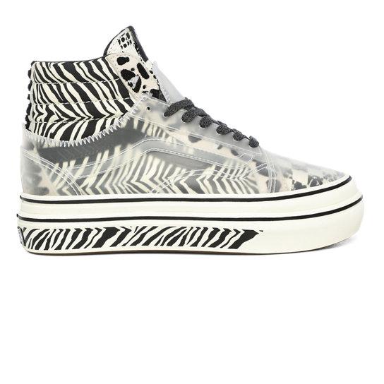 Chaussures Mixed Media Super ComfyCush Sk8-Hi Skool | Blanc | Vans