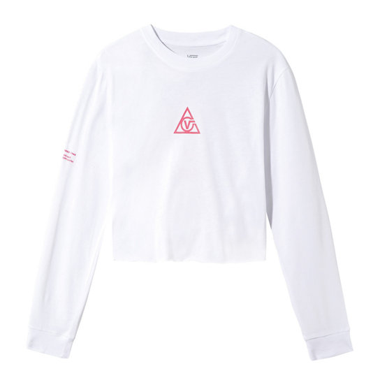 66 Supply Tri Boyfriend Crop T-shirt met lange mouwen | Vans