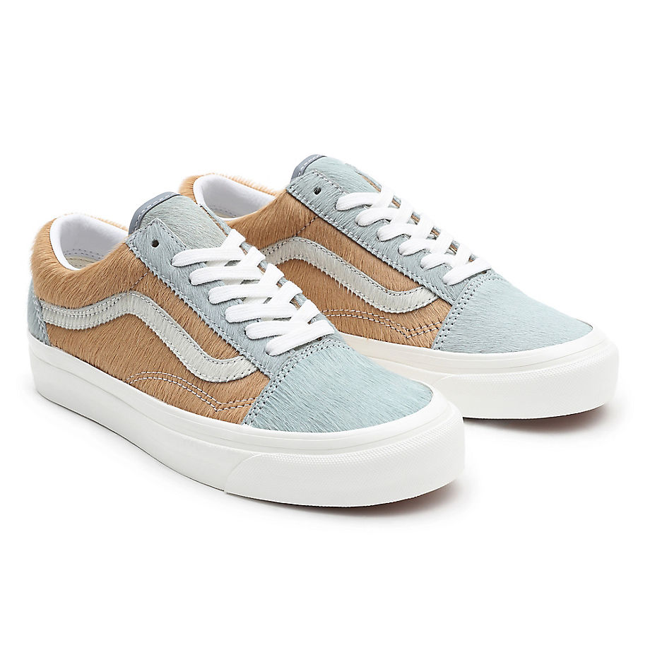 Sneaker Vans VANS Zapatillas Anaheim Factory Old Skool 36 Dx ((anaheim Factory) Gray Pony/true White) Mujer Marrón