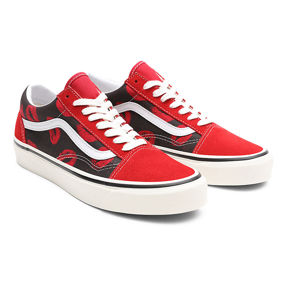 Sneaker Vans VANS Zapatillas Anaheim Factory Old Skool 36 Dx ((anaheim Factory) Og Red/og Hotlips) Mujer Rojo