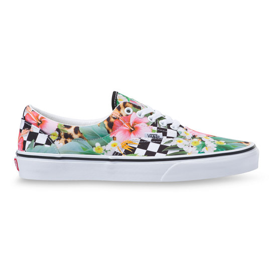 Tropical Animal Check Era Shoes | Vans