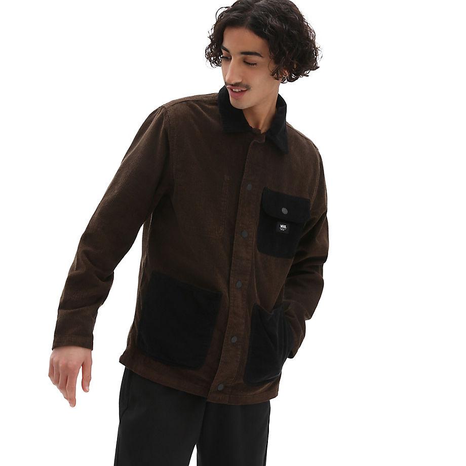 VANS Manteau En Velours Côtelé Drill Chore (demitasse-black) Homme Marron, Taille XL