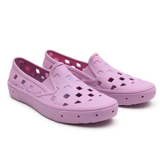 Vans X Chris Johanson Slip-On TRK Shoes   Pink   Vans