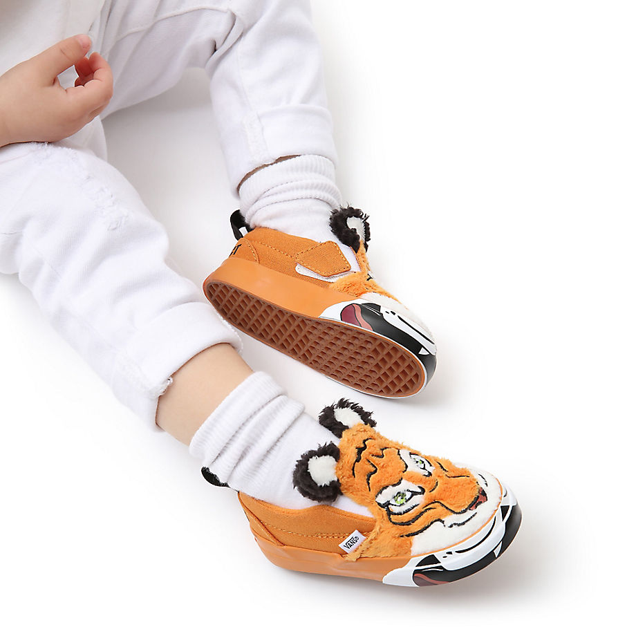 Chaussures X Project Cat Wild Tiger Slip-on Velcro Bébé (1-4ans) ((discovery) Projectcat/tiger) Toddler , Taille 17 - Vans - Modalova