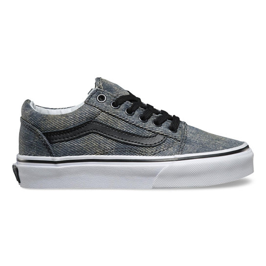 Kids Acid Denim Old Skool Shoes | Vans