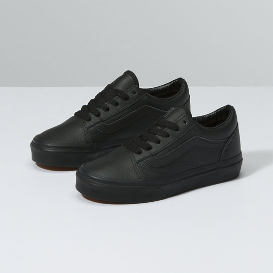 Kids Leather Old Skool Shoes | Vans
