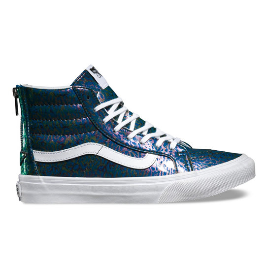 Patent Leopard Sk8-Hi Slim Zip Shoes | Vans