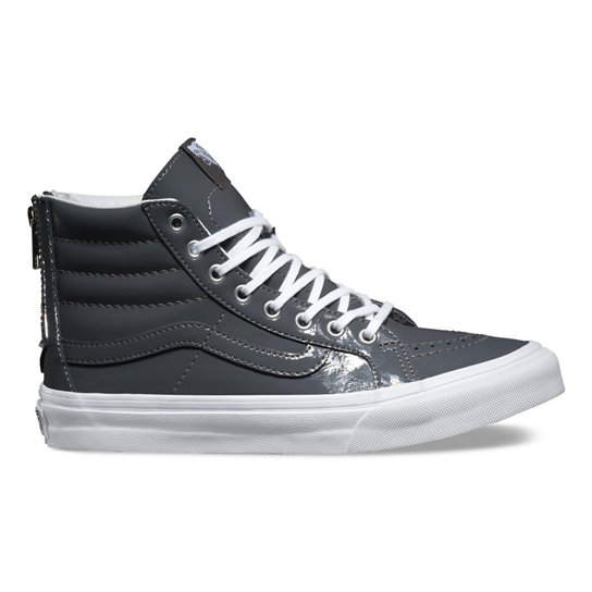 Tumble Patent Sk8-Hi Slim Zip Shoes | Vans
