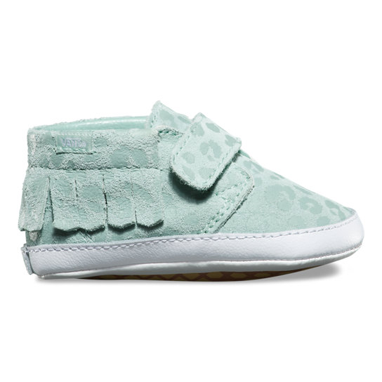 Kids Leopard Suede Chukka V Moc Crib Shoes | Vans