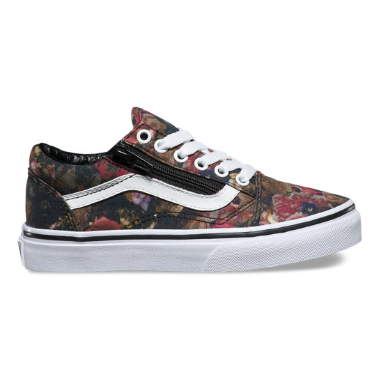 Kids Moody Floral Old Skool Zip Shoes | Vans