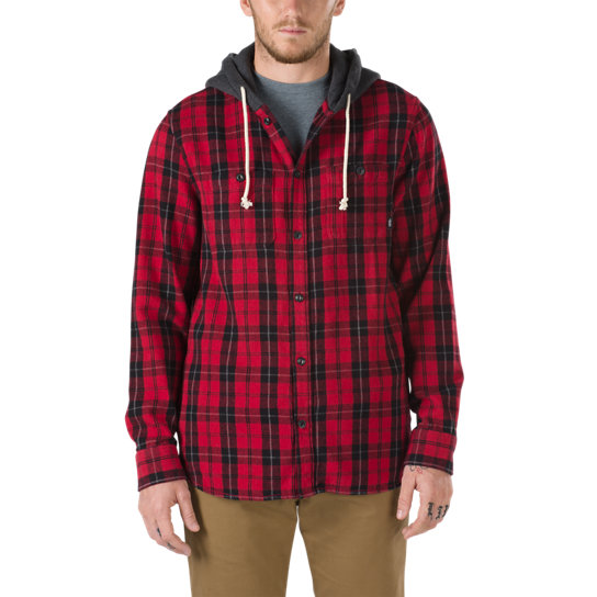 Lopes Button-down Flannell-Kapuzenpullover | Vans